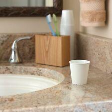 White Plastic Bathroom Cups-3 Ounce