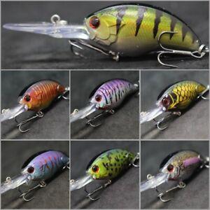 Crankbait Fishing Lures wLure 3 1/2 inch 3/8 oz Deep Diver Tight Wobble C733