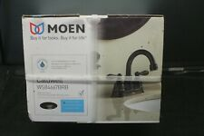 Moen Caldwell WS84667BRB DualHandle Bathroom Faucet,Bronze finish