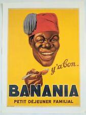 French Poster Print Art Deco 1930s 24x18 Banana Paris Happy Man Premium Paper