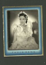 Paula Denk in a Wedding Dress #14  1930s Movie Film Star Collector Card Germany
