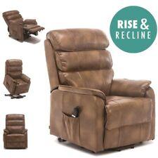 Buckingham Elecrtic Rise Recliner Leather Air Riser Sofa Armchair Lounge Chair