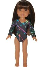 """Leotard fits 14.5"""" Wellie Wishers glitter girls Doll Clothes byTKCT splatter"""