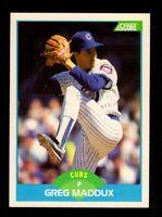 "1989 Score #119 Greg Maddux Chicago Cubs HOF Baseball Card ""mrp-collectibles"" NM"