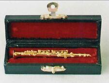 Strumento Clarinetto In Rame In Miniatura 19 Cm Con Supporto E Custodia