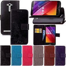 Flowers Wallet Leather Flip Case Cover For Asus Zenfone ZE500KL ZE550KL ZE551ML