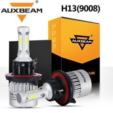 AUXBEAM 9008 H13 COB LED Headlight Bulb Kit High Low Beam 72W 8000LM White 6000K