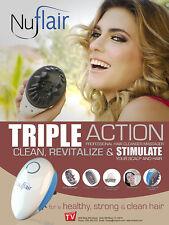NuFlair Electric Scalp Massager Waterproof Grow Hair clean scalp Beloforte