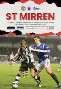 St Mirren v Rangers - Scottish Premiership - 24 October 2021 - Official - Mint