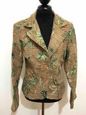 DESIGNER VINTAGE '70 Giacca Donna Damascata Flower Woman Jacket Blazer Sz.S - 42