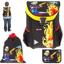 3 Teile Ranzen LEGO EASY Schulranzen Tornister 1-4.Klasse CITY FIRE Feuerwehr