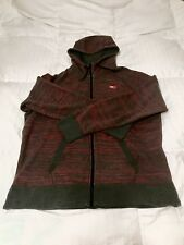 Nike Full-Zip Hoodie - Gray / Red Speed Stripe AW77 Size 2XL / XXL