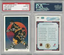 1990 Upper Deck Hockey, #320 Ray Bourque HOF, Checklist, Bruins, PSA 10 Gem