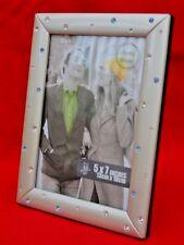 CORNICE foto SUPER cristallo in argento spazzolato-inutilizzato in scatola originale