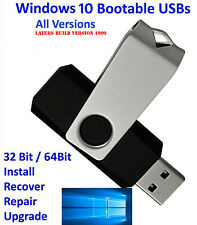 Windows 10 USB Bootable Flash Drive Install Recovery 32/64bit All version 16GB