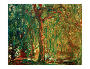 Monet - Weeping Willow Tree fine art giclee print poster wall art various sizes