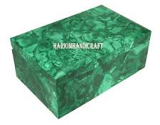 "6""x4""x3"" Marble Malachite Jewelry Storage Box Marquetry Mosaic Deco Gifts H2731A"