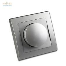 DELPHI Dimmer Phasenanschnitt für elektronische Trafos 300W, UP-Rahmen Silber
