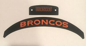 Denver Broncos Front And Rear Helmet 3D Bumpers For Full Size Riddell Speed