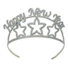 Happy New Year Glittered Metal Tiara