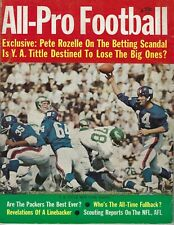 1963 All-Pro Football magazine, Y.A. Tittle, New York Giants GOOD