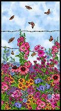 1/2 PRICE SALE**COUNTRYSIDE BLOOMS ART PANEL*BL8572P*QUILT/EMBELLISH/THREADPAINT