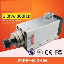 6kw 220v /380v air spindle motor with flange high speed air cooled spindle