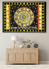 Indian Astrology Small Tapestry Wall Hanging Horoscope Zodiac Dorm Decor Poster