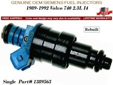 1 Fuel Injector OEM Siemens for 1989-1992 Volvo 740 2.3L I4 #1389563