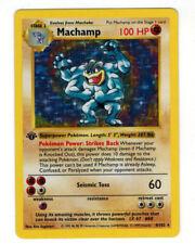 RARE MACHAMP 1ST FIRST EDITION SHADOWLESS Holographic Pokemon Card 1999 Nintendo