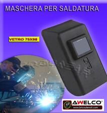 MASCHERA SCHERMO PVC PER SALDATURA AD ELETTRODI ECC SALDATRICE SALDATORE + VETRO