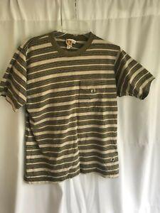 Hang Ten Border Striped Hawaii Skate Surf T Shirt Medium Size