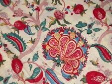 5 Yard Indian Hand Block Floral Print Cotton Voile Fabric Dress Sewing Material