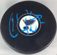 CHRIS PORTER SIGNED ST LOUIS BLUES NHL HOCKEY PUCK AUTOGRAPHED COA K2