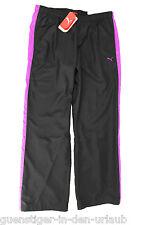 PUMA Damen Sporthose Fitnesshose Hose Regular Fit schwarz / lila 42 NEU