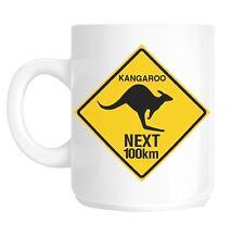 Australian Kangaroo Sign Australia Gift Mug shan43