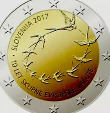 Slovenia Coin 2€ Euro 2017 Commemorative 10y Years New UNC from Roll