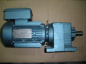 "Sew Eurodrive gearmotor inline  1HP 1"" shaft 5 ratio DFT80N4TF R27DT80N4TF NEW"