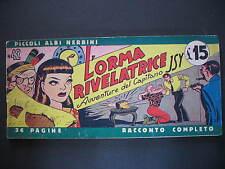 FUMETTI STRISCE PICCOLI ALBI NERBINI 1949 N. 42 L'ORMA RIVELATRICE OLD COMICS