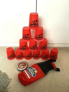 WSSA Official Red Speed Stacks Cups x12 with Carry Bag & Practice Timer