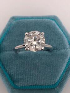 2.00 Ct ROUND CUT DIAMOND SOLITAIRE ENGAGEMENT RING 14K WHITE GOLD E VS2