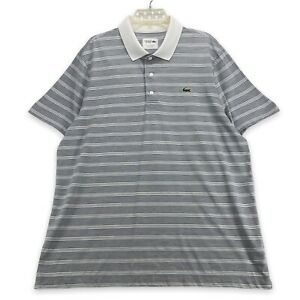 Lacoste Sport Men's Polo Collar Shirt Alligator Logo Size FR 7 US XXL White