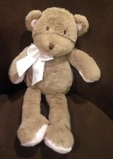 "Cocalo 16"" Teddy Bear Pink Bow Soft Brown Tan Plush Baby Toy Sewn Eyes EUC"
