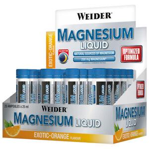 (38,98€/l) Weider Magnesium Liquid,Trinkampullen, Exotischer Geschmack