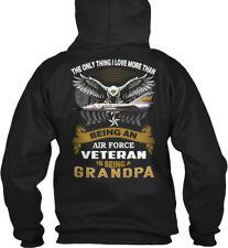 ...air Force Veteran Is Being A Grandpa - The Only Gildan Hoodie Sweatshirt
