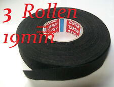 3 ROLLEN KFZ ISOLIERBAND Gewebeband Kabelbaum Isoband TAPE 25 METER / 19mm TESA