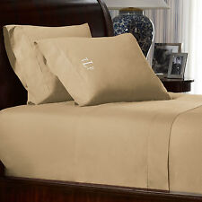 Ralph Lauren Rl 464 Percale Twin Flat Sheet $90 in Burnished Chamois, unopened.