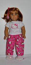 Doll Clothes Custom Made For 18 Inch American Girl Doll - Hello Kitty Pjs-