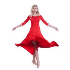 Latin Ballroom Dance Dress Modern Salsa Waltz Standard Long Dress#N087 2 Colors