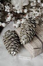 Bauernsilber Weihnachtsdeko.Christmas Decorations Trees Winter Weihnachtsdeko Zapfen Glas